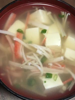 カニカマとえのきの中華スープ