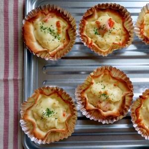 超簡単!餃子の皮 de ポテサラチーズのオードブル