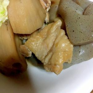 鶏肉とレンコンと蒟蒻の煮物