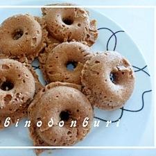 蒸しパン風チョコ味焼きドーナツ