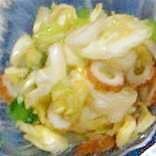 ちくわとキャベツの塩もみのお酢サラダ