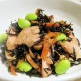 鮭の旨味じんわり♪ひじきの煮物