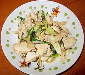 ★節約レシピ★胸肉と塩コンブの炒め物★