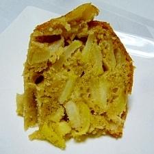 ペクチンたっぷり♪皮付きリンゴとHMの簡単ケーキ