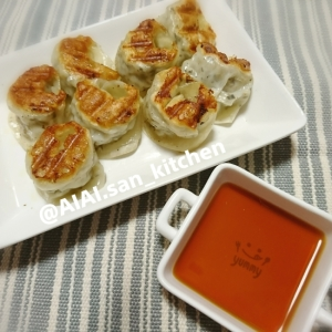 【餃子】白菜たっぷりさっぱりバジル餃子
