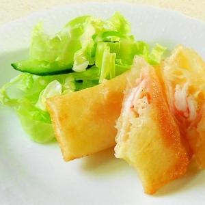海老&ベーコン&チーズの簡単春巻き
