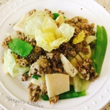 ひき肉とキャベツのサラダ カレー風味