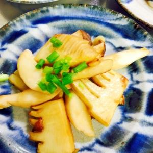 簡単おつまみ☆たけのことエリンギのバター醤油炒め