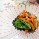 小松菜 人参 油揚げ の炒め煮
