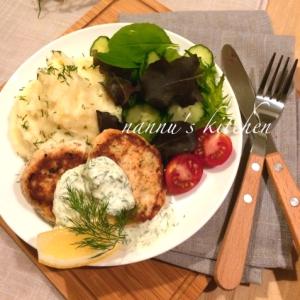 フィンランド給食風♪サーモンバーグ&タルタルソース