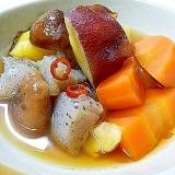 蒟蒻と根野菜のピリ辛甘煮