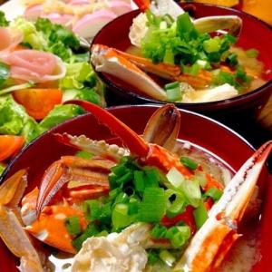 ワタリガニのお味噌汁です☆蟹風味たっぷり!のお汁♪