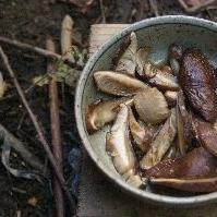 焼き椎茸のポン酢和え
