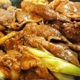 肉とネギだけのシンプルすき焼き