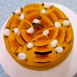 かぼちゃのメープルクリームケーキ
