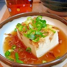 簡単♪あったか♪あんかけ温豆腐♪