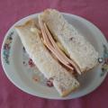 ロースハム+クリチ×白菜漬け×卵のお手軽サンド♥