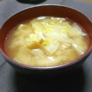 しょうがでポカポカ♥白菜と大根のお味噌汁