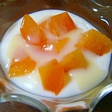 ミルキー柿ヨーグルト