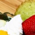 苺と栗のヨーグルト