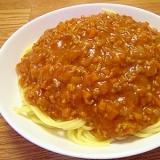 ☆トマトジュースで☆簡単美味しいミートソース♪