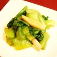 オイスターソースで、チンゲン菜とエリンギの中華和え