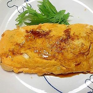 母の味★豚バラ肉と玉ねぎのソースオムレツ