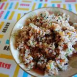 五穀米で炒飯