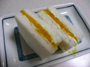 ☆かぼちゃの煮物でサンドイッチ☆