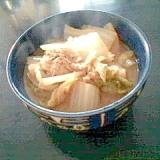 白菜と鮭缶の味噌煮