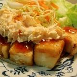 豆腐でチキン南蛮風!