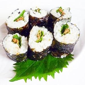 大葉と納豆の細巻寿司