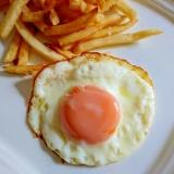 冷凍卵で作る綺麗な目玉焼き