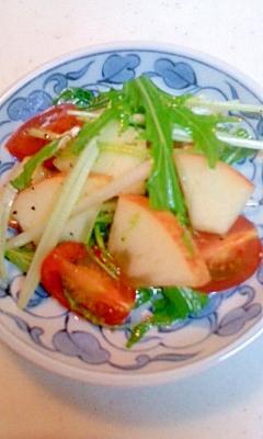 りんごと水菜のサラダ
