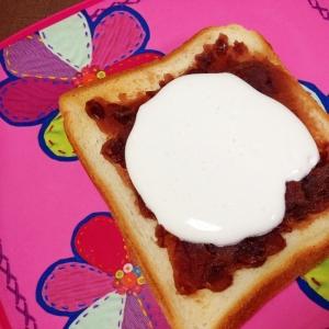 おやつトースト☆小倉クリームトースト