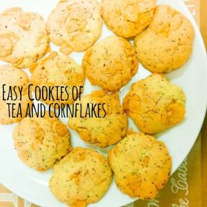 簡単♡紅茶とコーンフレークのクッキー♡
