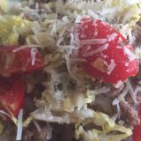 白菜とトマトのタコライス