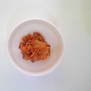 キャベツと納豆のキムチ和え 10
