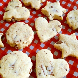 板チョコとマーガリン使用☆さっくりチョコクッキー