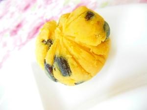 甘じょっぱ❤安納こがね芋と黒豆のチーズ茶巾❤