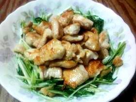 お財布にやさしい!水菜と鶏胸肉の炒め物