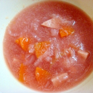 かぶのすりおろしコンソメスープ
