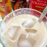 アイス☆五味茶入りアーモンドミルクティー♪