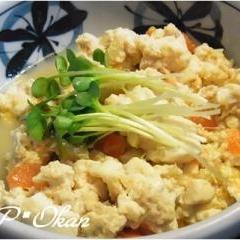 とってもヘルシー(^^v豆腐とミンチの生姜炒め