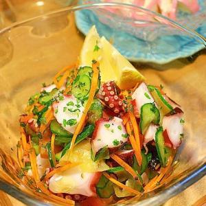 蛸とズッキーニと胡瓜のサラダ