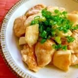 鶏むね肉と長芋のしょうゆ炒め