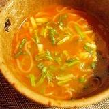 ダイエッタァ~♪赤からスープで糸こんにゃくラーメン