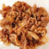 お弁当やおにぎりの具材に♡豚しゃぶ肉の甘辛煮♡