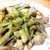 鶏肉とごぼうのピリ辛炒め