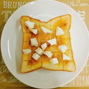 朝食♡クリームチーズハニートースト